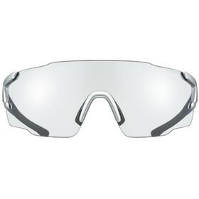 UVEX sportstyle 804 V Lunettes de sport, silver blue metallic/variomatic